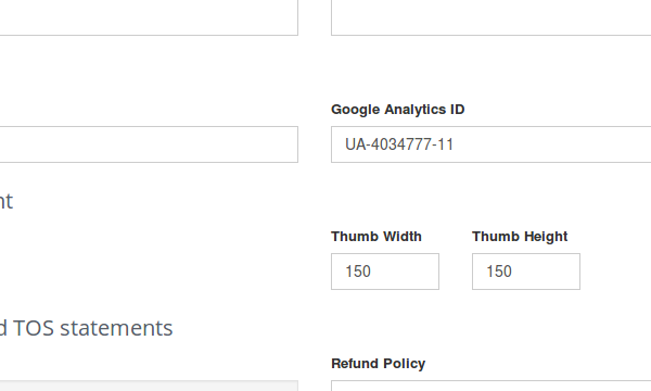 google analtyics settings
